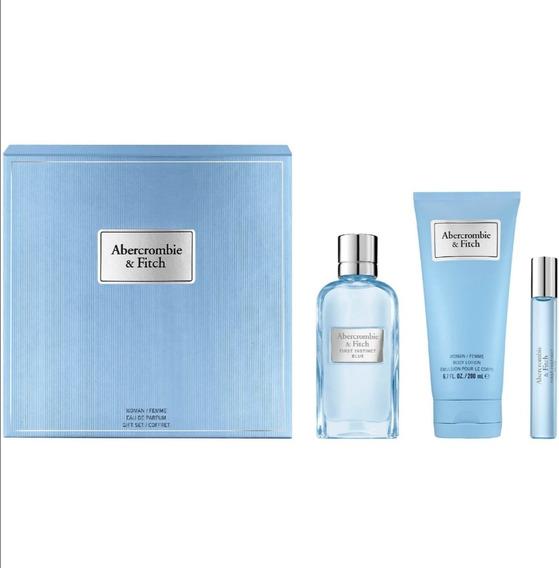 Perfume Abercrombie Fitch First Instinct Blue 3 Piezas