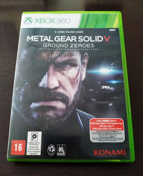 Metal Gear Solid 5 Ground Zeroes - Xbox 360