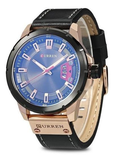 Relógio Masculino Original Luxo Esportivo Curren Aço Inox