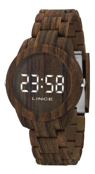 Relógio Lince Feminino Digital Madeira Mdp4614p Bxnx