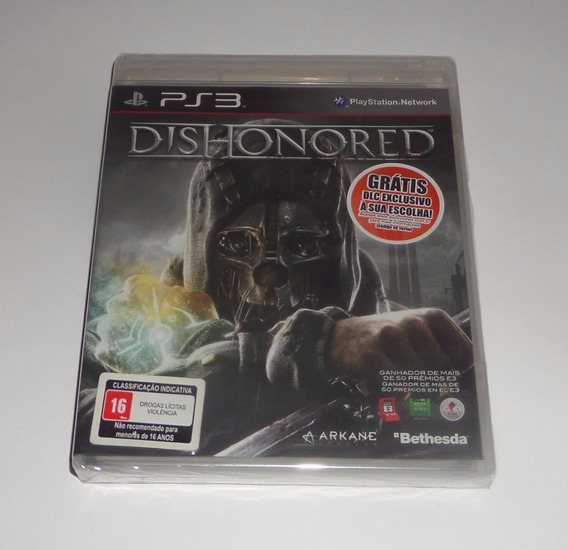 Dishonored Original Lacrado Mídia Física Ps3