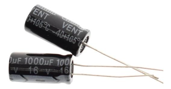 10x Capacitor Eletrolitico 1.000uf X 16v * 1.000 Uf * 1000uf
