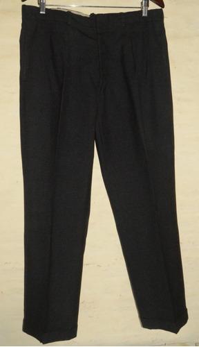 Pantalon De Vestir Negro Hombre Clasico De Sarga