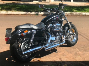 Harley Davidson Xl 1200 Preta Cromada, Ano 2012 Nova Goias