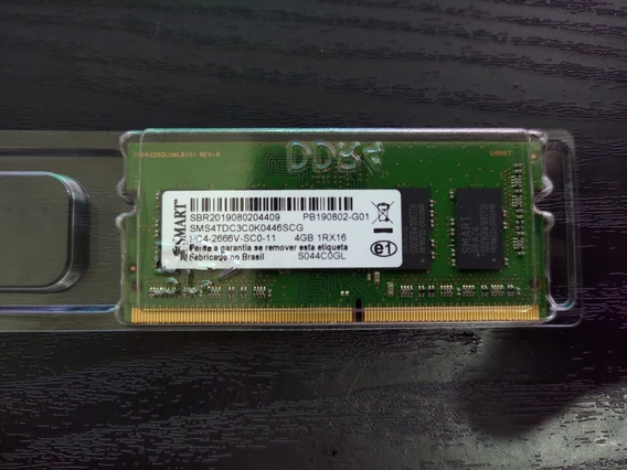 Memória Ram Smart Ddr4 4gb 2666 Mhz Notebook