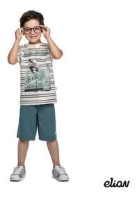 Kit Infantil Menino 4 Conjuntos Brandili Kyly Elian 12 Ao 16