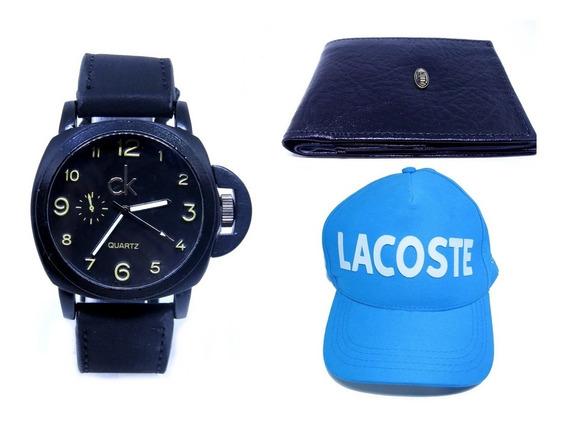 Relógio Masculino Grande + Carteira + Boné Pronta Entrega