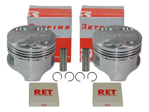 Imagem 1 de 2 de 2 Kit Pistão Anéis Honda Cb 450 / Cbr 450 0,75 - Retpins