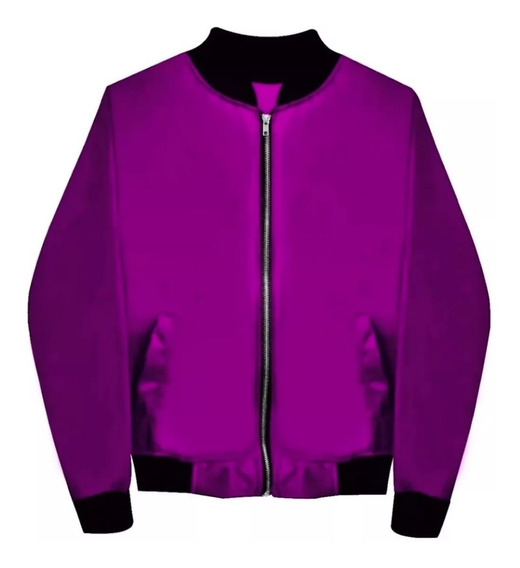 Chamarra Bomber Jacket Con Cierre Púrpura Envio Gratis Moda