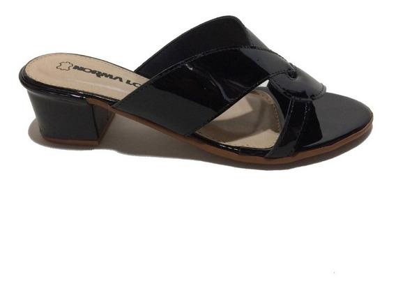 Sandália Tamanco Norma Lopez Satinho 4cm