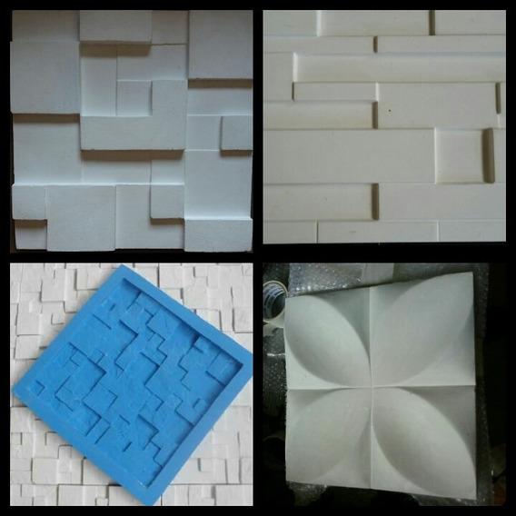 Kit 4 Pcs Forma De Silicone Para Gesso 3d Atm 245