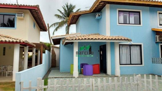 Casa Com 3 Dormitórios À Venda, 180 M² Por R$ 460.000,00 - Barra Do Jacuípe - Camaçari/ba - Ca1360