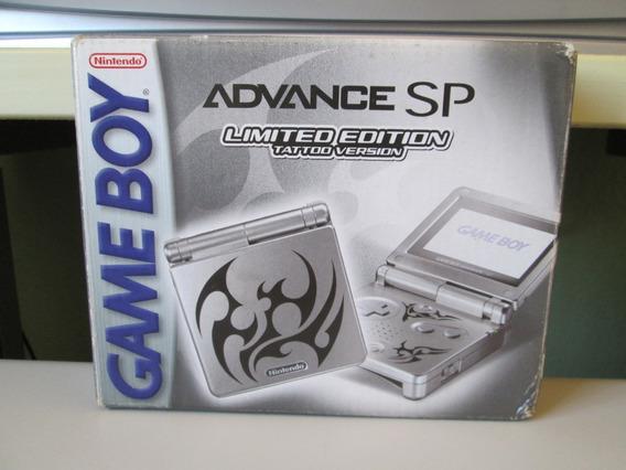 Caixa E Manuais Do Game Boy Sp Edição Tattoo Version