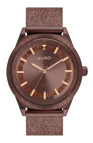 Relógio Feminino Euro Eu2036ypx/4m 40mm Aço Marrom
