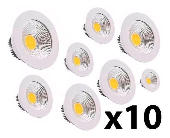 Kit 10 Spot Embutir Direcionável Com Led 7w Bivolt Frio