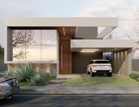 Casa Nova Alto Padrão, Fachada Robusta, 3 Suites