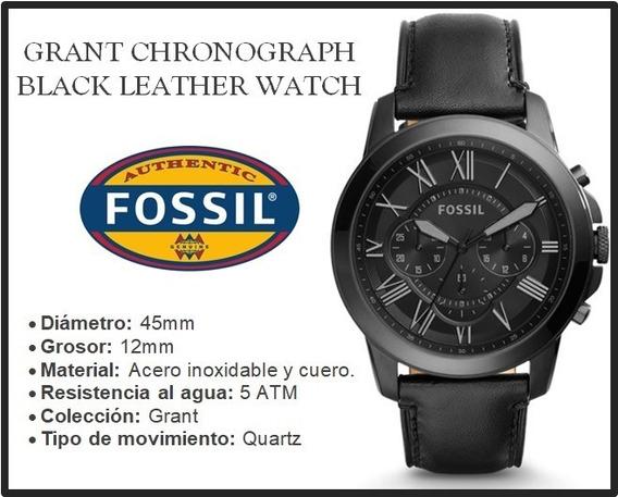 Reloj Fossil Grant Black Dial Men
