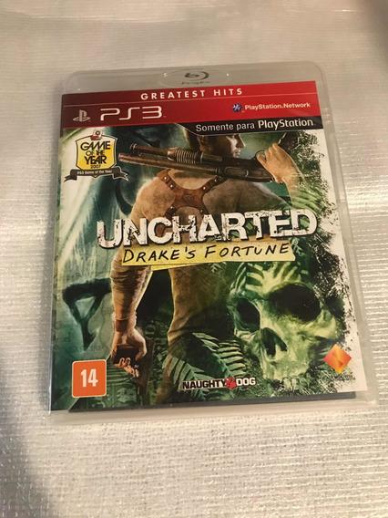 Uncharted Drakes Fortune Ps3 Original Mídia Física