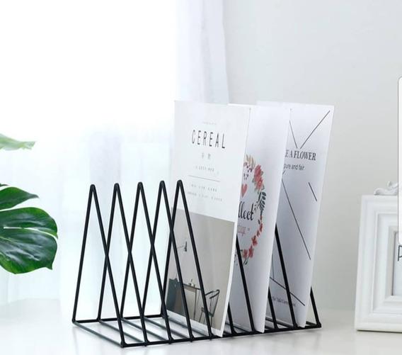 Porta Livros Triângulo / Revisteiro De Mesa E Chão