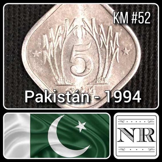 Pakistan - 5 Paisa - Año 1994 - Caña De Azucar - Km #52