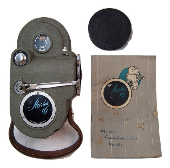 Filmadora Antiga Starlett 16mm De 1949 Com Manual E Case