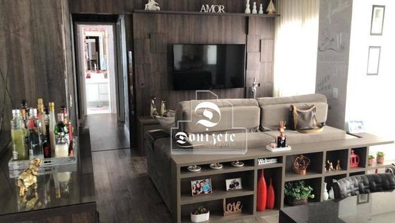 Apartamento Com 3 Dormitórios À Venda, 107 M² Por R$ 770.000,00 - Vila Homero Thon - Santo André/sp - Ap12146