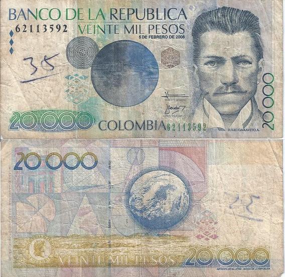 Pesos Colombianos Moeda Papel Cédulas Kit Dinheiro