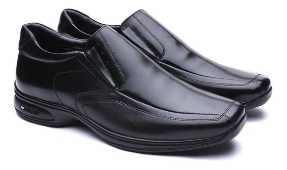 Sapato Jota Pe Em Couro 3d Air Preto