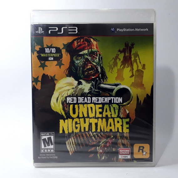 Jogo Red Dead Redemption Unded Nightmare Ps3 Original Raro!
