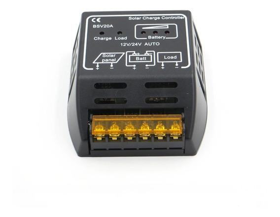 Controlador De Carga Solar 20a 12/24v