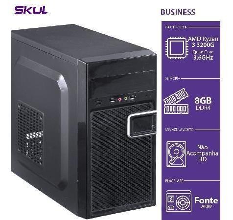 Computador Business B300 - R3-3200g 3.6ghz 8gb Ddr4 Sem Hd H