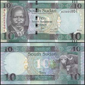 Sudão Do Sul 10 Libras 2015 P. New Fe Cédula - Tchequito