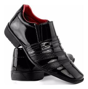 Sapato Social Infantil Masculino Alto Brilho Sofisticado