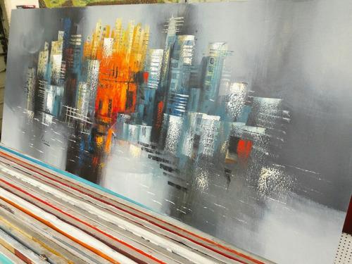 Cuadros Al Oleo Abstractos.pinturas Para Sala Hogar