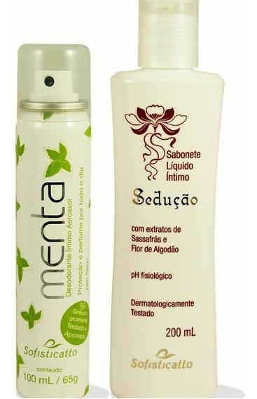 Kit 06 Desodorante Intmo Menta + 06 Sabonete Intmo