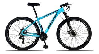 Bicicleta Aro 29 Quadro 21 Freio A Disco 21v Azul - Dropp