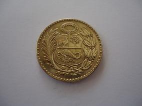 Moeda Bronze 50 Centavos Sol Oro Ouro 1941 República Peru