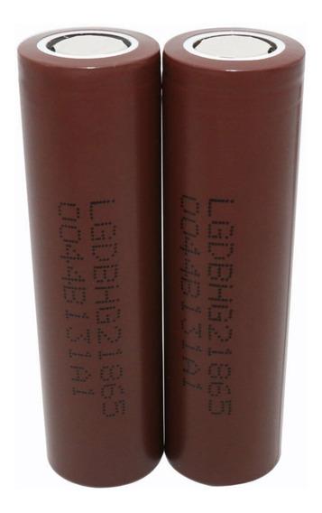 02 Baterias Lg Hg2 18650 3000mah 20a Chocolate Vaper Genuína