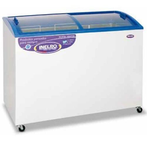 Freezers 333lts Tapa Vidrio Plano Inclinado Inelro Fih-350pi