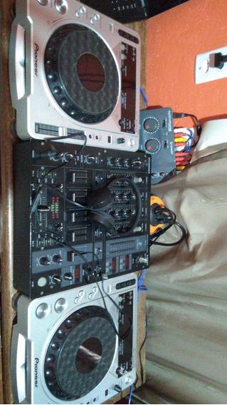 Kit Cdj800 Mk2, Mix Djx 750, Placa M Audio Conective