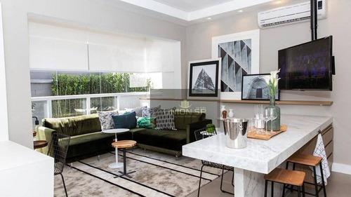 Apartamento Com 1 Dormitório À Venda, 36 M² Por R$ 489.190,00 - Brooklin - São Paulo/sp - Ap38927