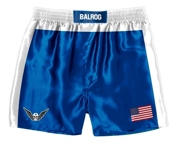 Bermuda Shorts Anime Balrog Street Fighter Usa Cosplay Luta