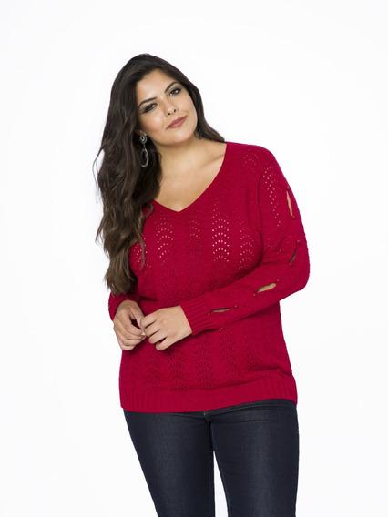 Blusa De Tricot Plus Size Gg (tamanho Grande) Gg