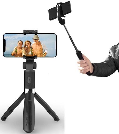 Bastão De Selfie Com Controle Bluetooth Sem Fio Tripé