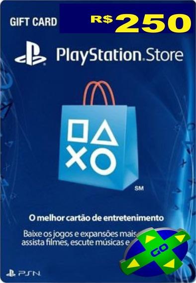 Cartão Psn Brasileira Brasil R$ 250 Reais - Envio Imediato