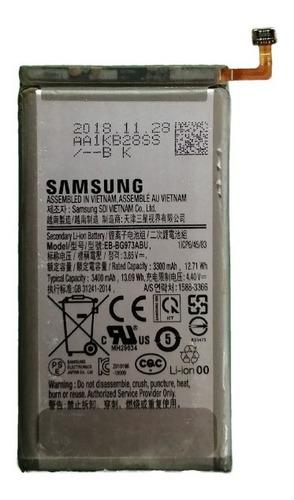 Imagen 1 de 5 de Bateria Samsung S10 Eb-bg973abu 3400 Mah 100% Original