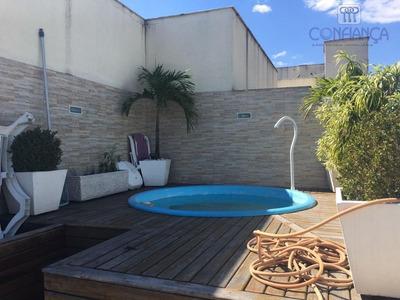 Cobertura Com 4 Dormitórios Para Alugar, 155 M² Por R$ 2.500/mês - Campo Grande - Rio De Janeiro/rj - Co0053