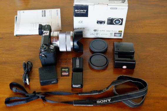 Câmera Sony Nex 6 Com Lente 18-55 Muito Pouco Usada!