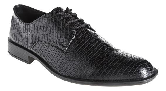 Zapatos Hombre De Vestir Croco Eco Cuero Simón De La Costa