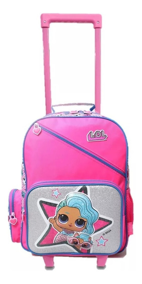 Mochila Lol Surprise Con Carro 16 Pulgadas Glitter Escolar